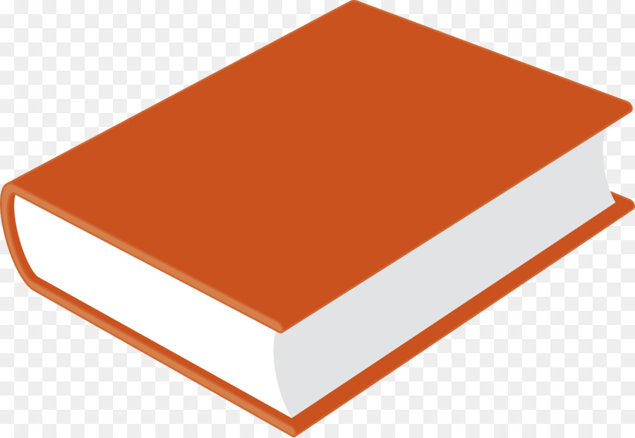 Book orange. Background clipart rectangle transparent