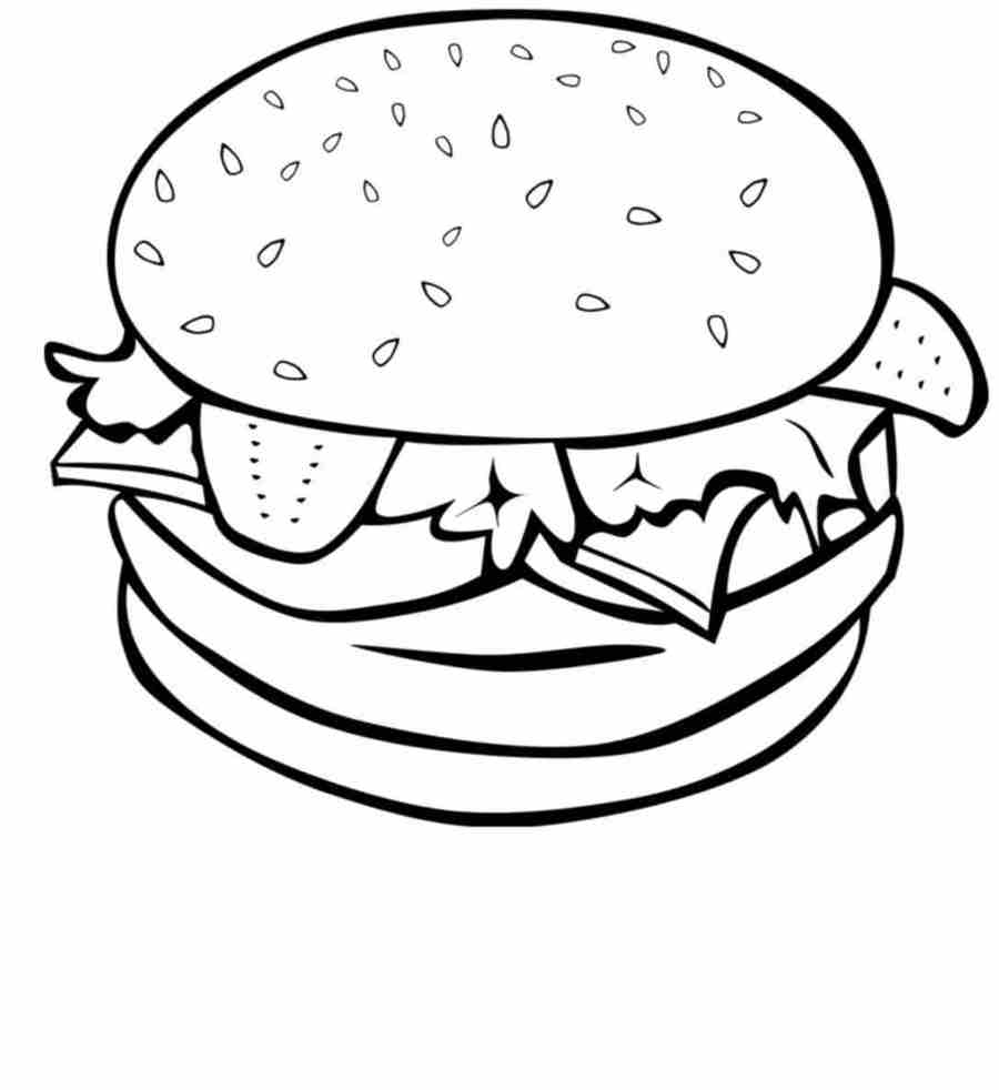 Download food coloring pages clipart Junk food Coloring book Food ...