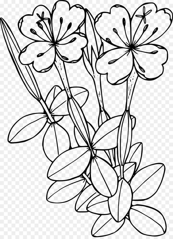 Black And White Flower clipart - Flower, Leaf, Tree ...
