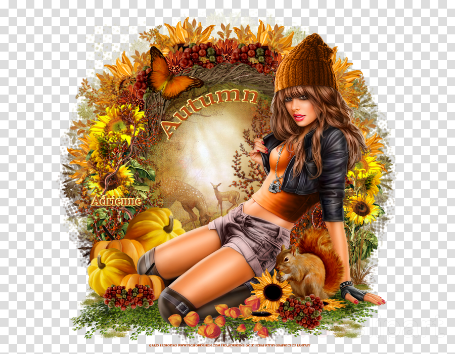 flower clipart Autumn Flower