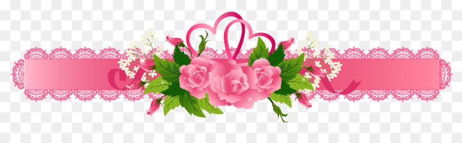 Flower Background Ribbon