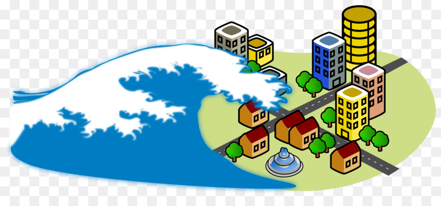 Wave tsunami. Cartoon clipart earthquake technology