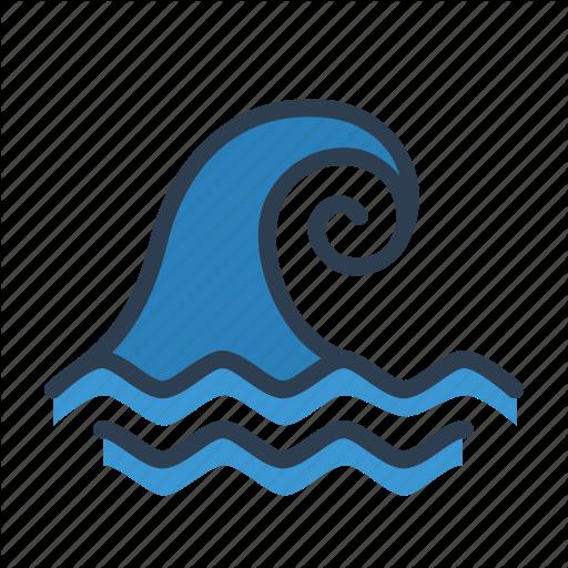 Wave tsunami. Cartoon clipart circle transparent