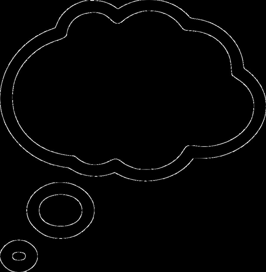 Bubble cloud. Black line background clipart