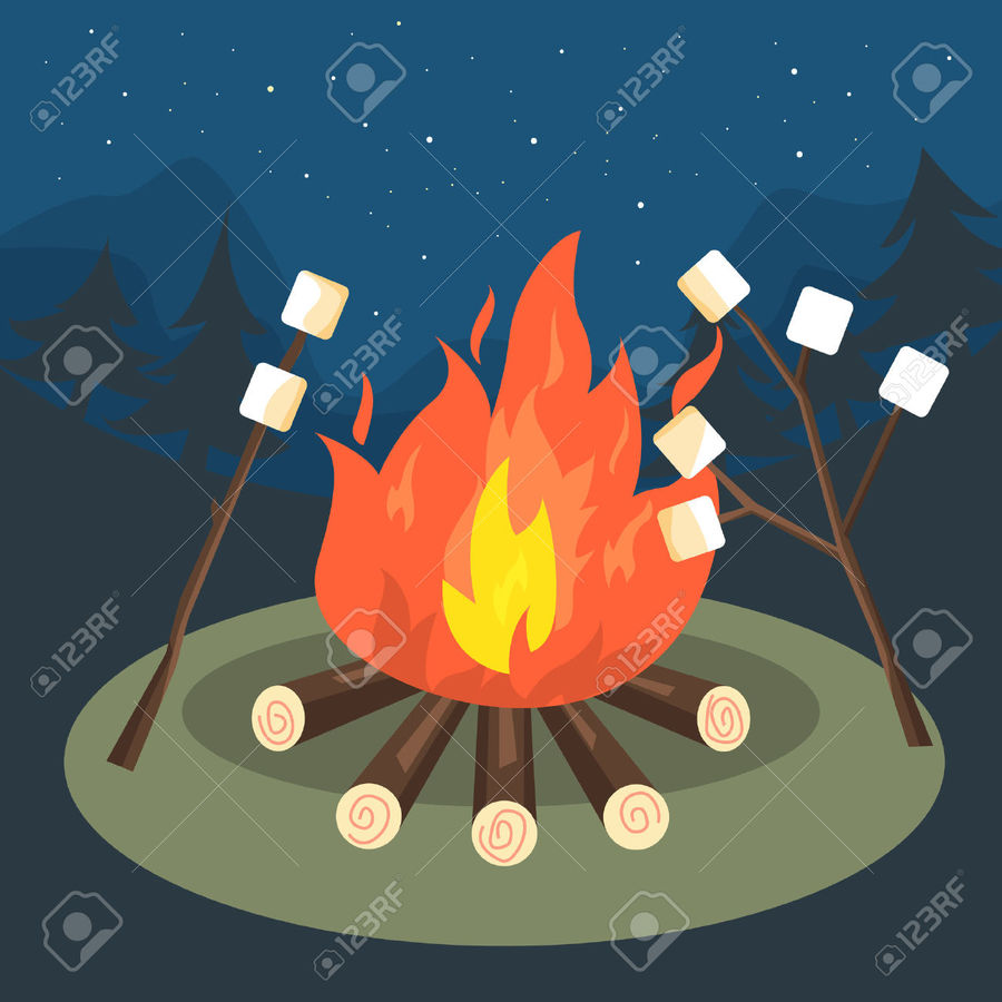 Bonfire Invitation Template Free Clipart Birthday Party