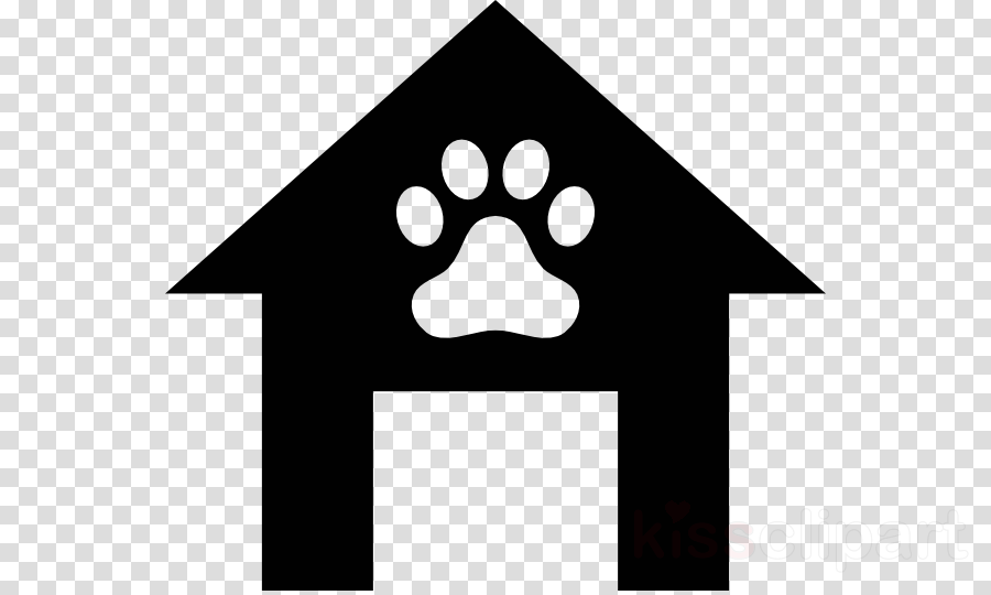 black and white dog house clipart Puppy Dog Houses Clip art