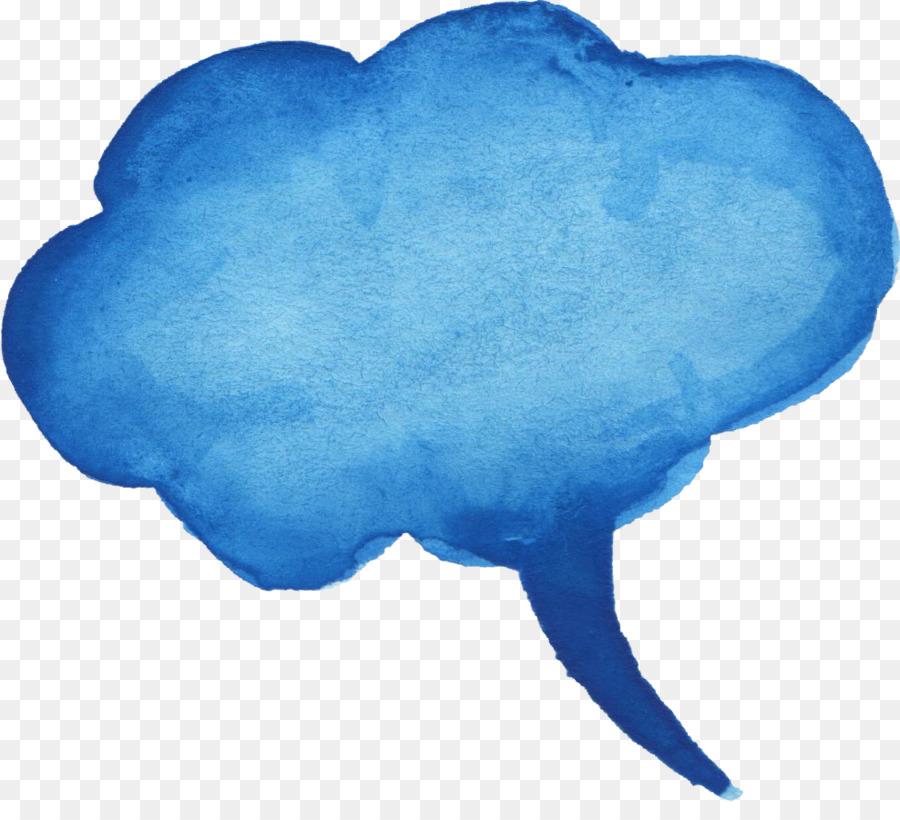 blue speech balloon clipart Speech balloon Watercolor painting