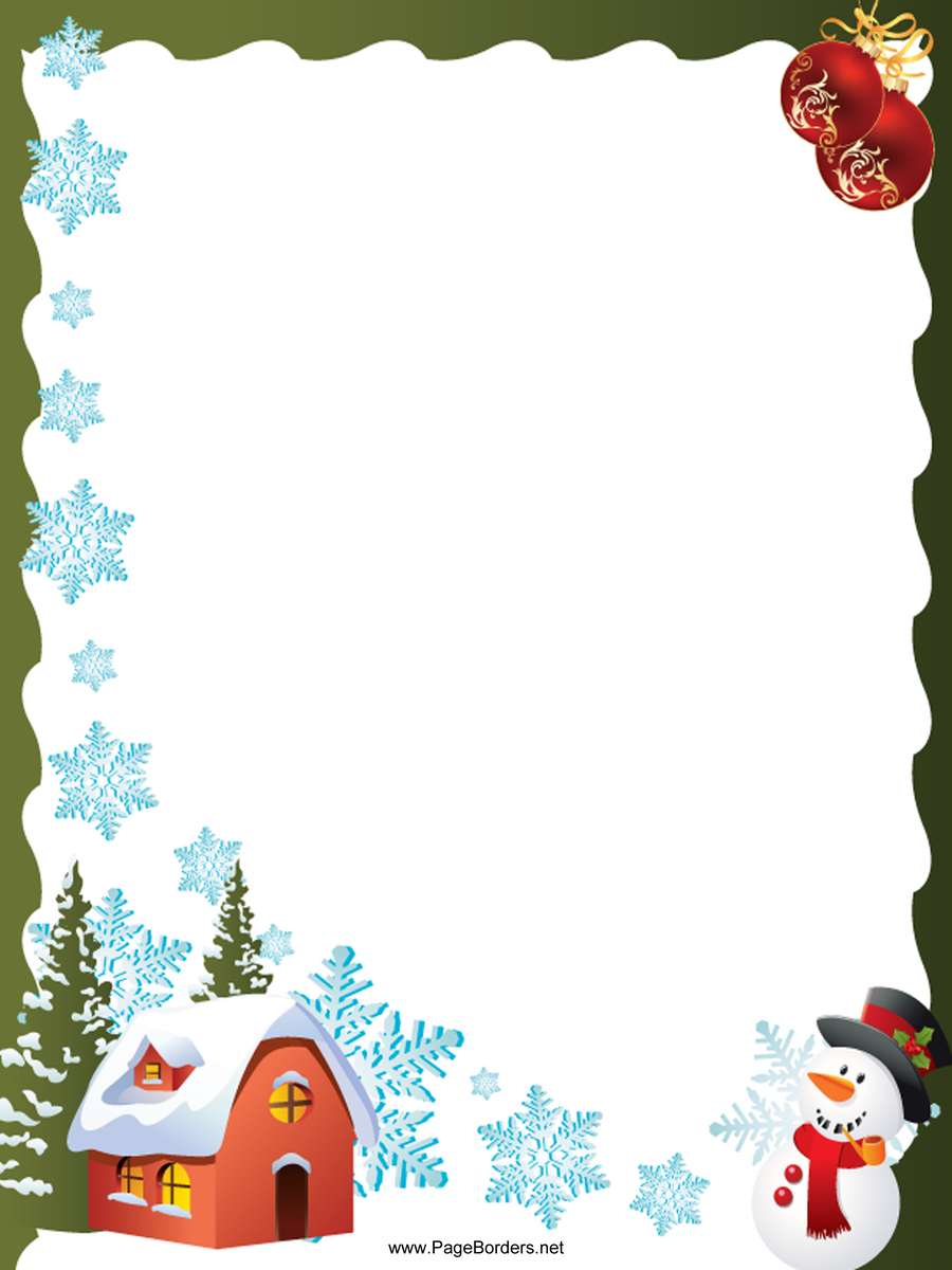 stationery border tree christmas png clipart free download