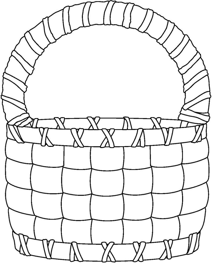 Cestos Para Pintar Clipart Easter Basket Drawing Clip Art