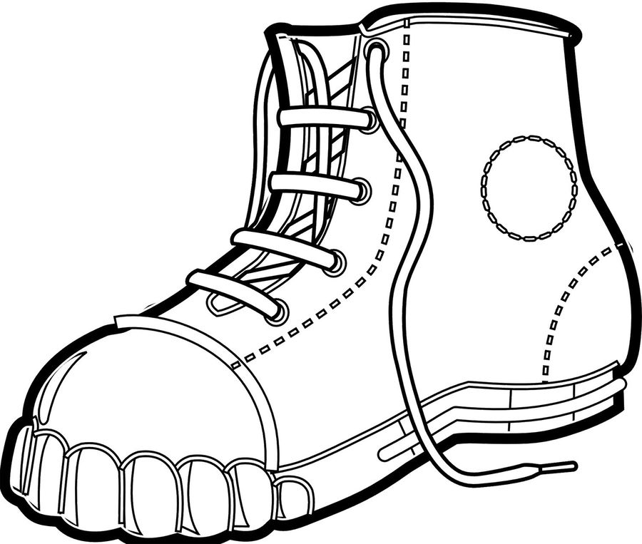 Download Boot Coloring Clipart Coloring Book Cowboy Boot Clipart