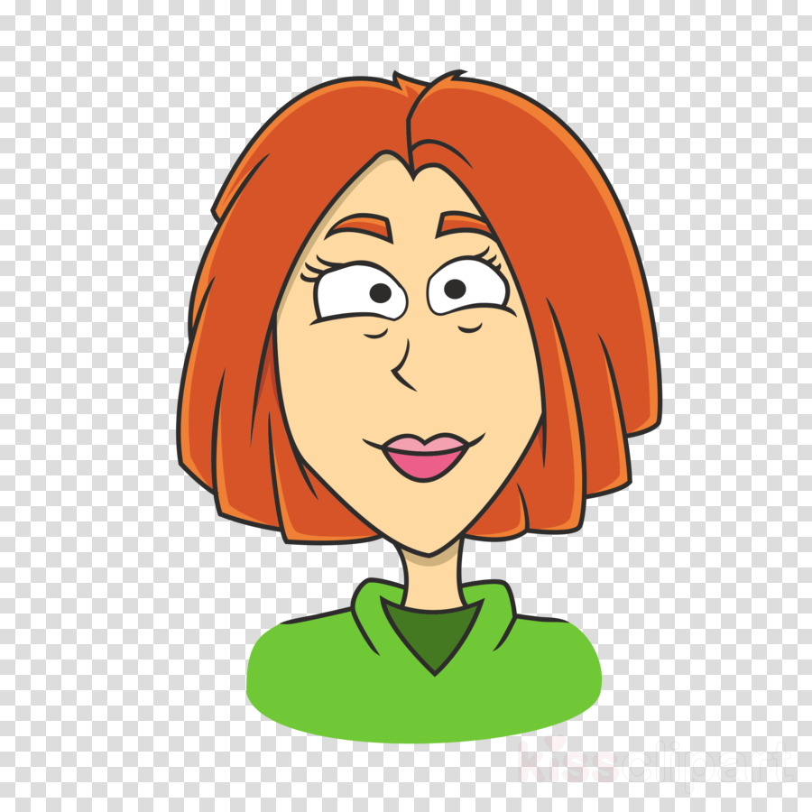 cartoon woman clip art - 750×750