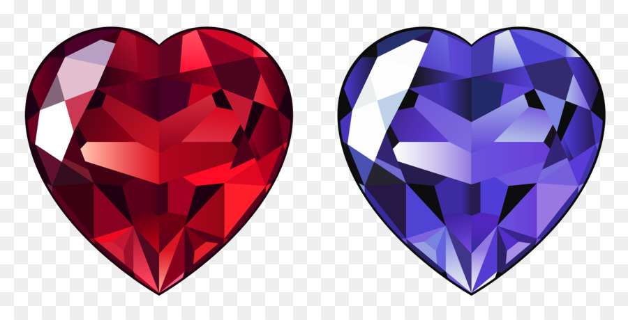 Heart Cartoon Clipart Diamond Heart Ring Transparent