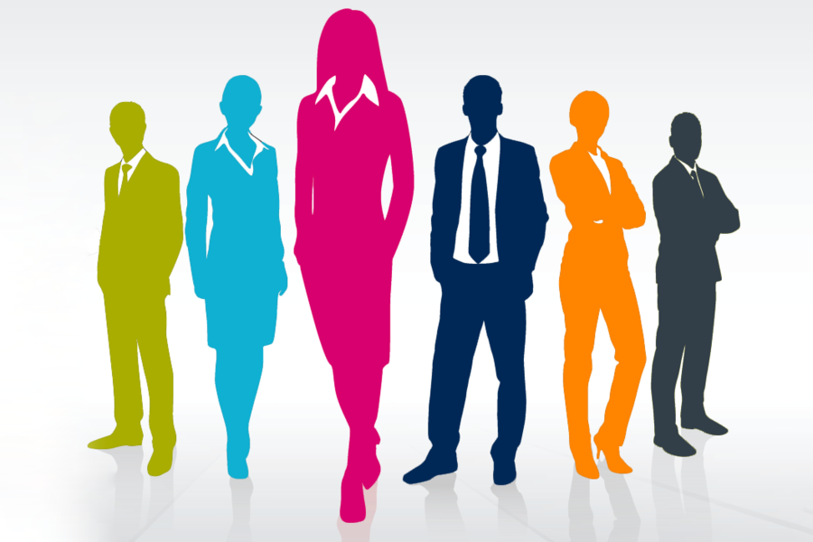 Group Of People Background Clipart Leadership Woman People Transparent Clip Art