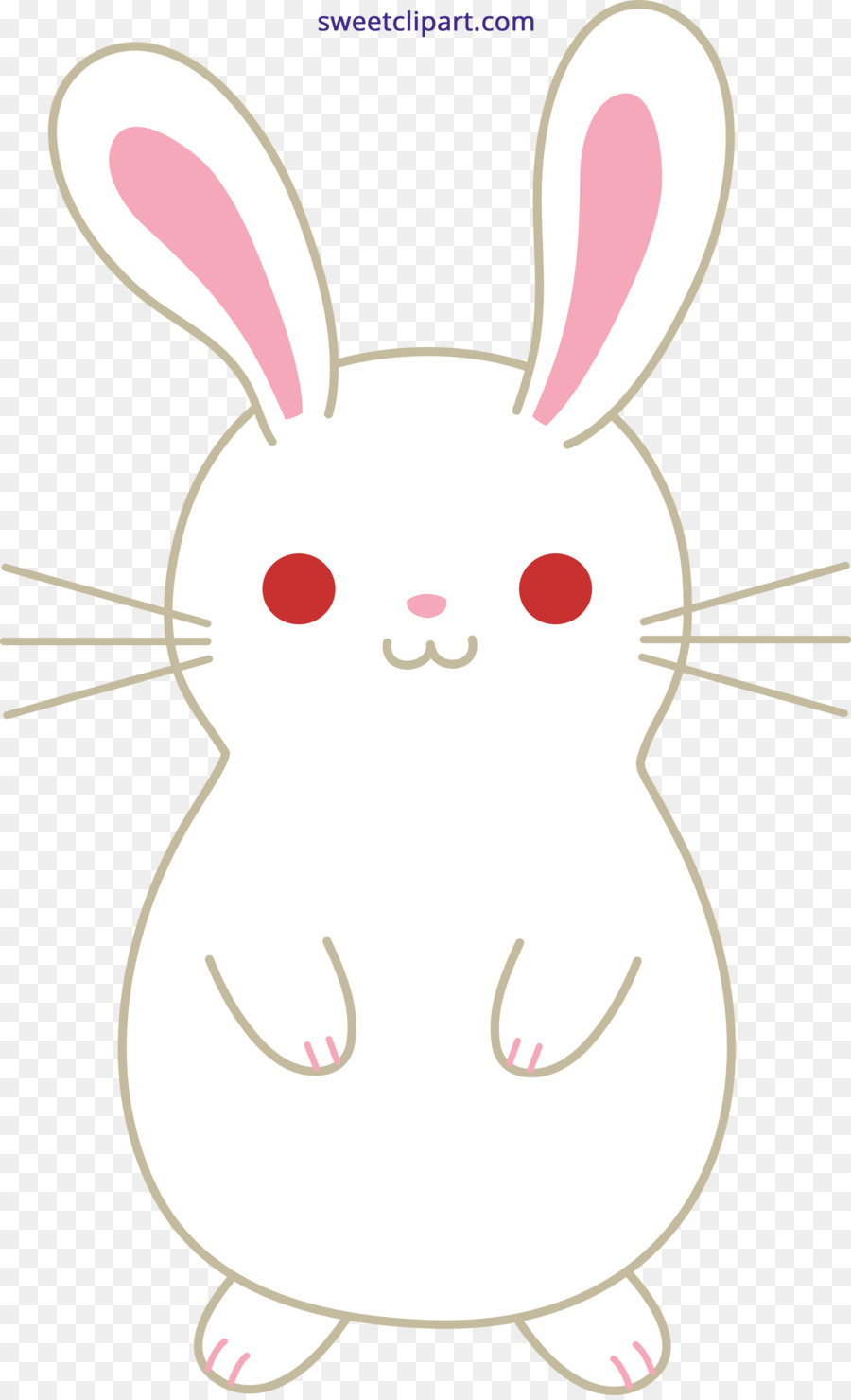 Easter bunny kawaii. Background clipart rabbit nose