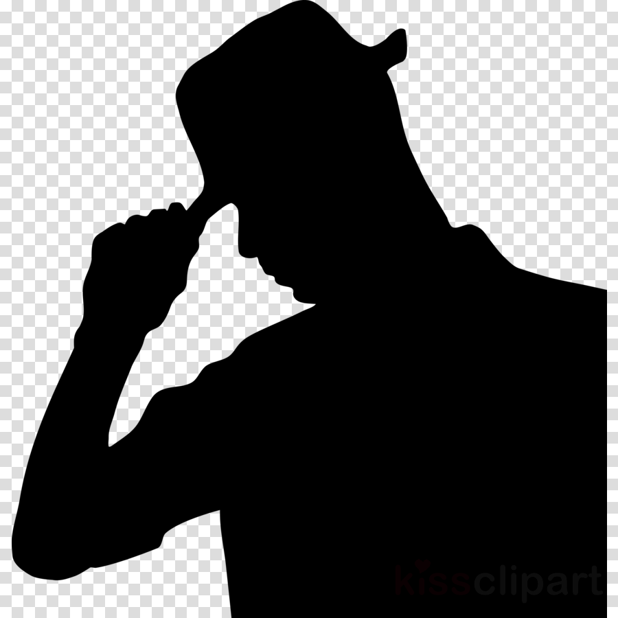 silhouette of man wearing a hat clipart Hat Clip art