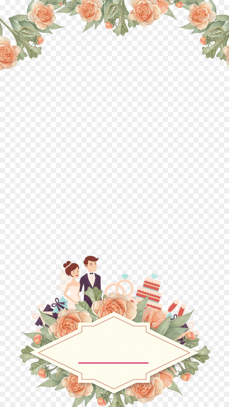 Floral Wedding Invitation Background Clipart Wedding