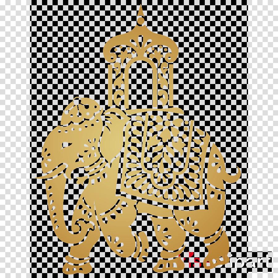 decorative indian elephant clipart Elephants Clip art