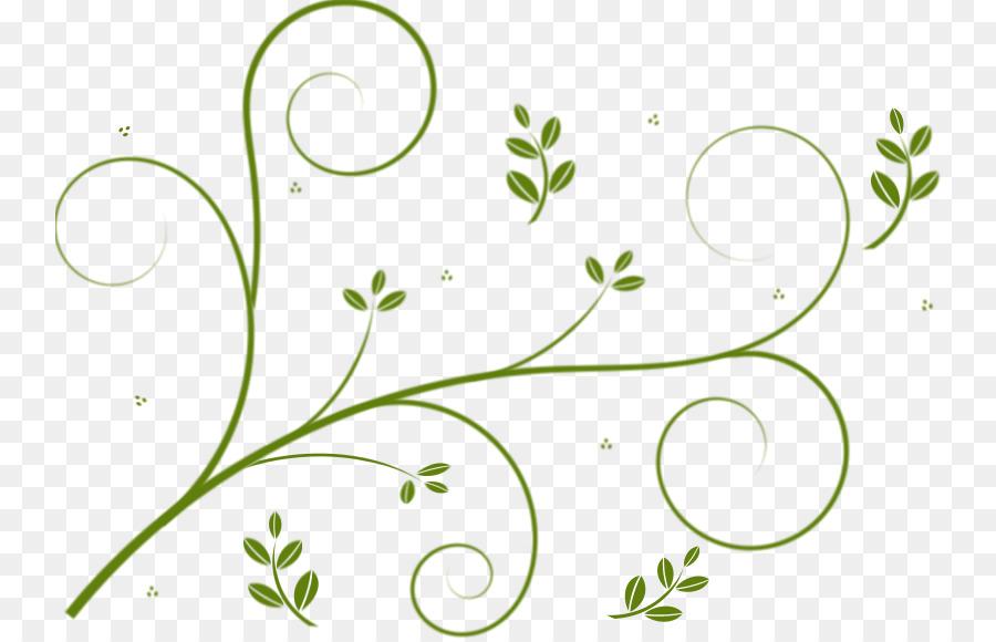 Fl Flower Background Clipart Vine