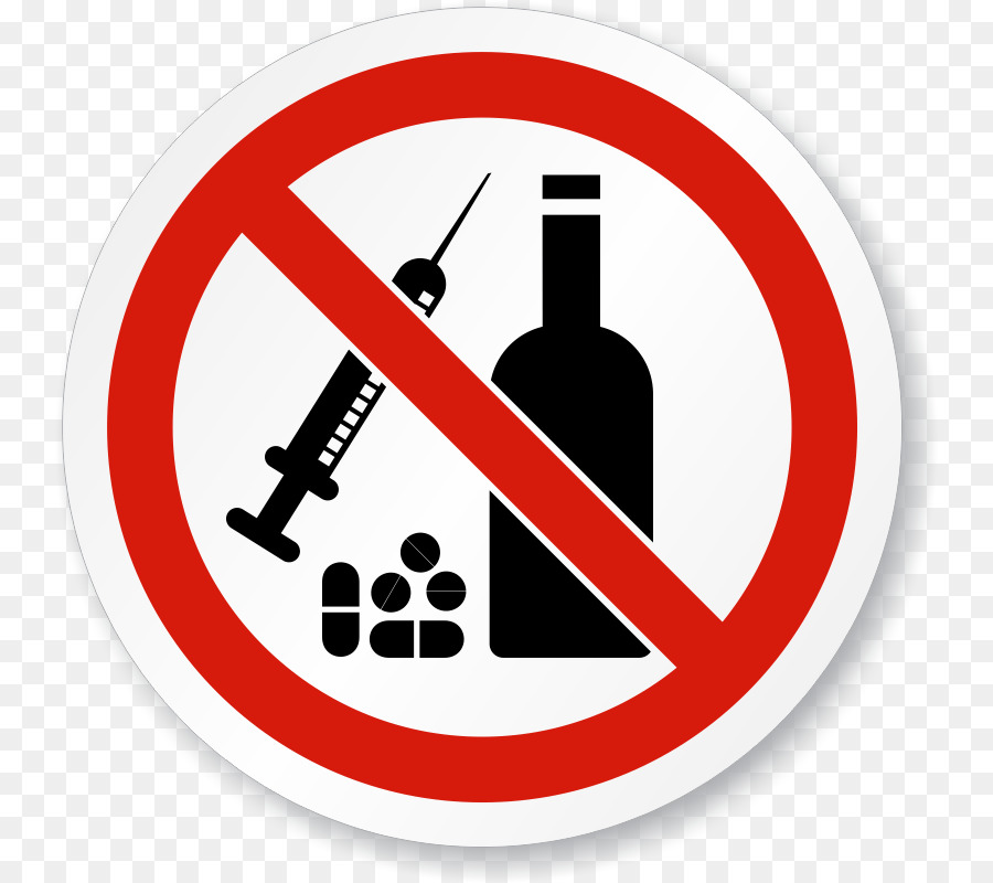no alcohol and drugs clipart Substance abuse Drug Addiction