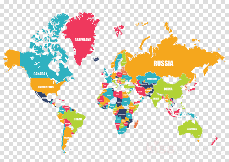 world map clipart World map World Physical Map