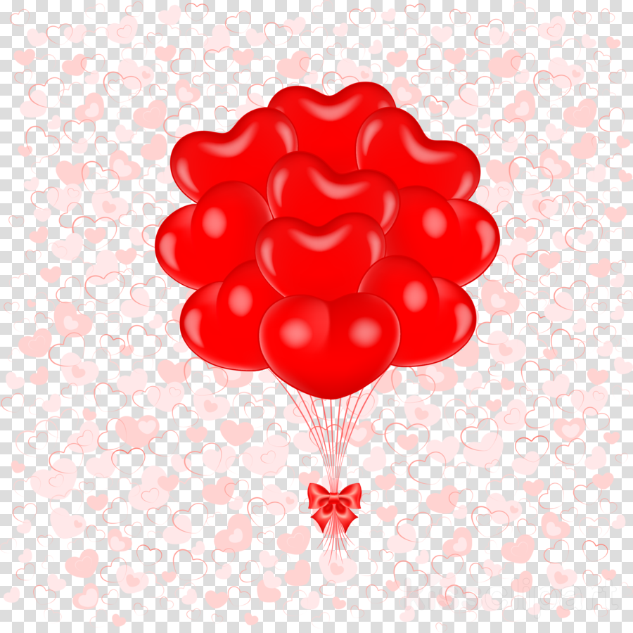 Heart Flower Balloon Transparent Png Image Clipart Free Download