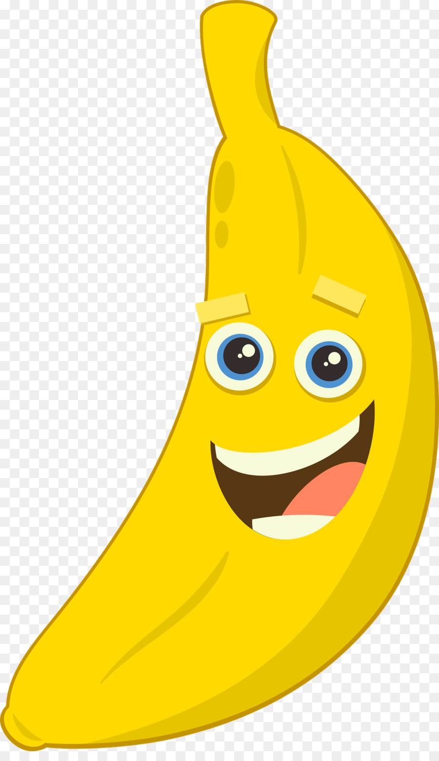 Banana smiley. Drawing of family clipart