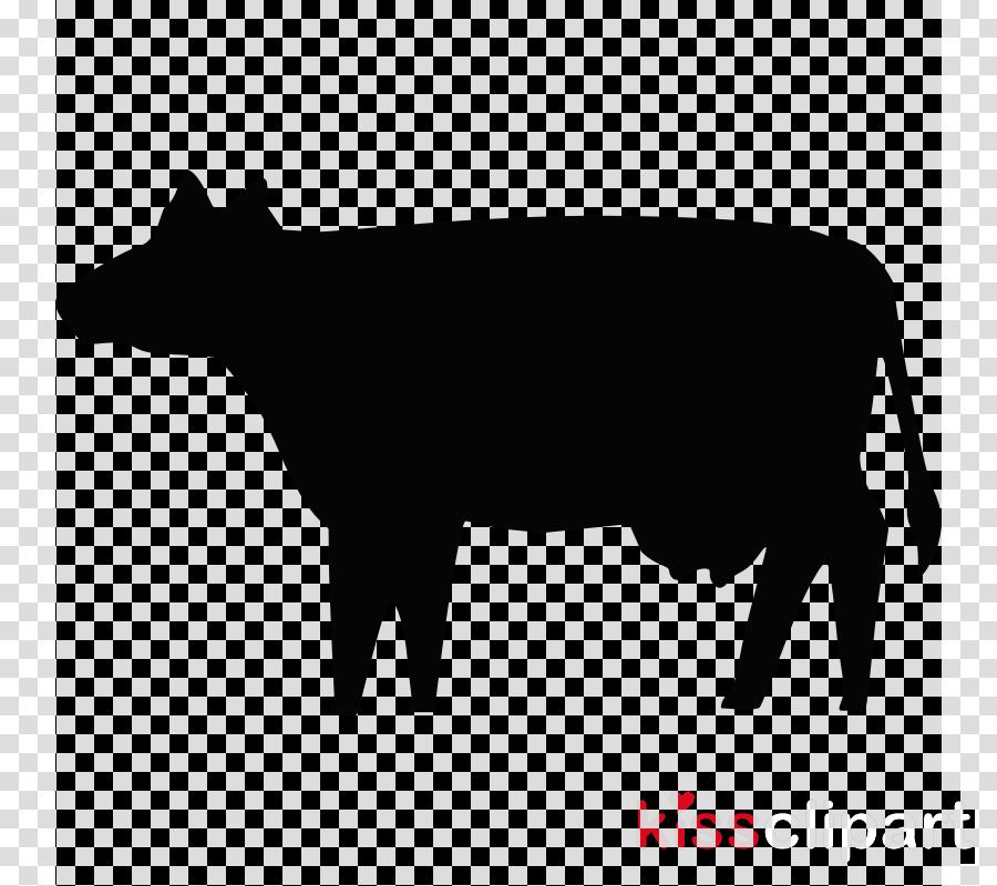cow silhouette clipart Holstein Friesian cattle Guernsey cattle Clip art