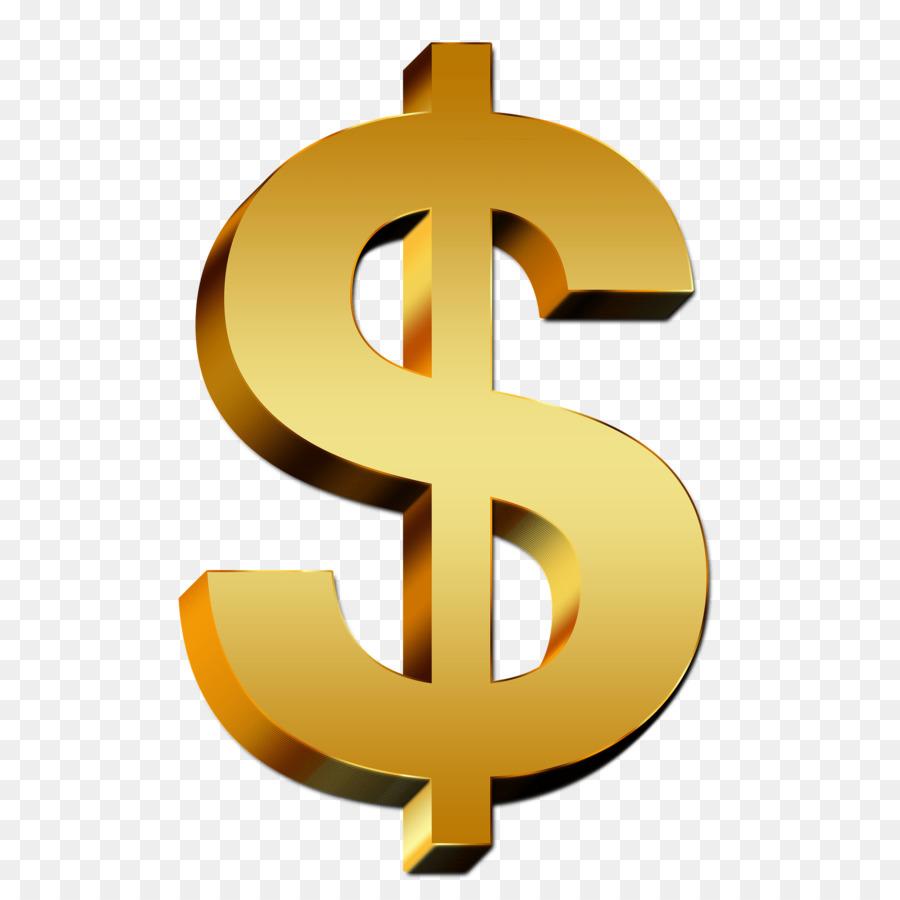 Money dollar sign. Clipart transparent clip art