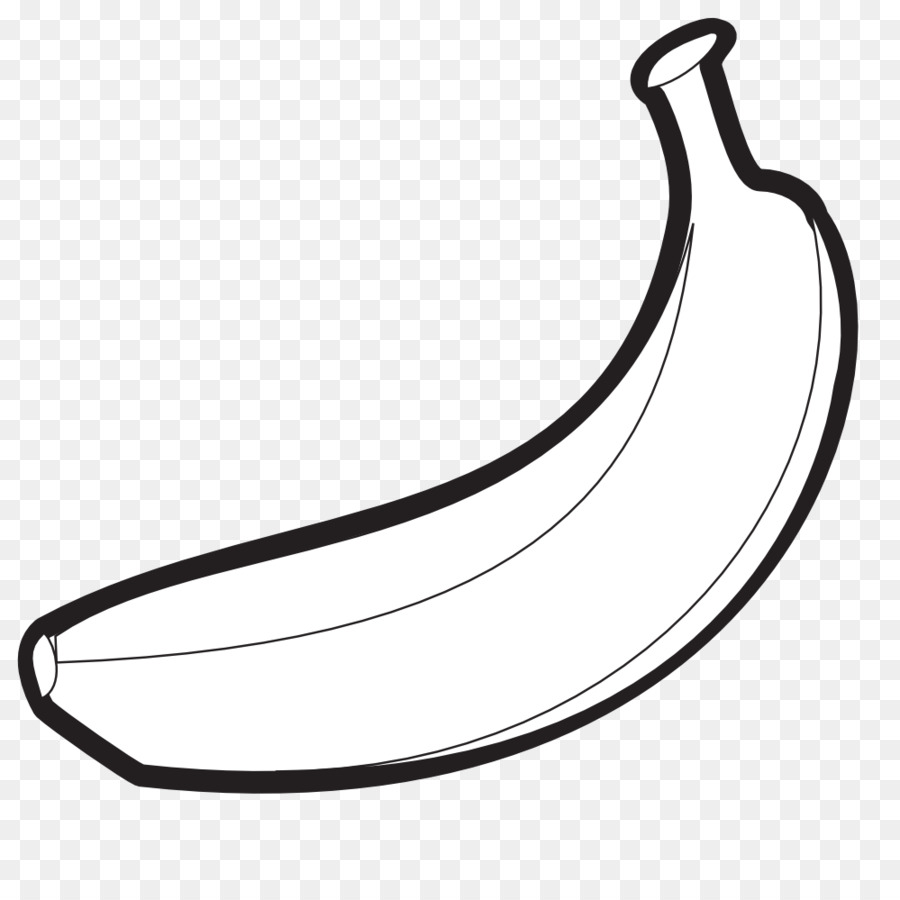 Banana black and white. Clipart transparent clip art