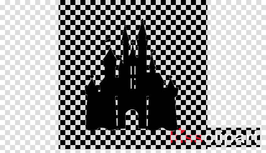 Disney castle sleeping beauty silhouette. Transparent png image clipart