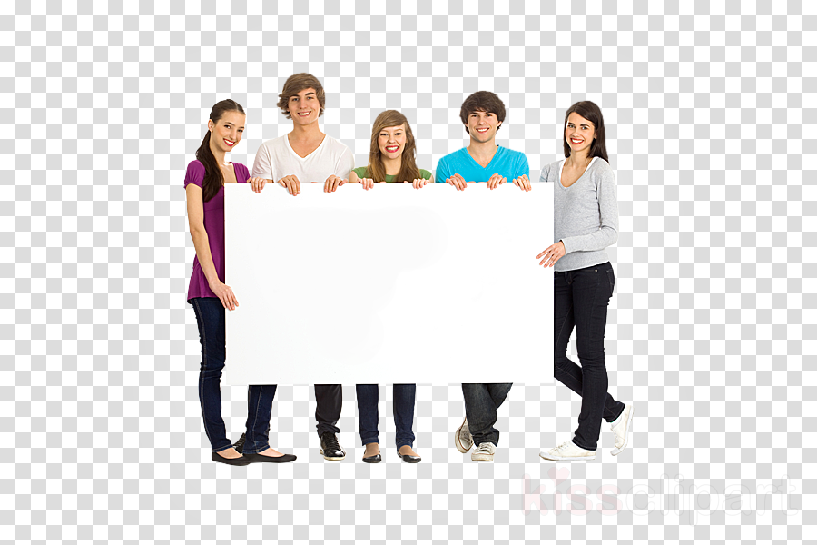 people holding banner png clipart Royalty-free Stock photography