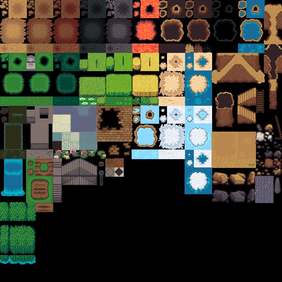 tiled tileset clipart Tile-based video game Tiled