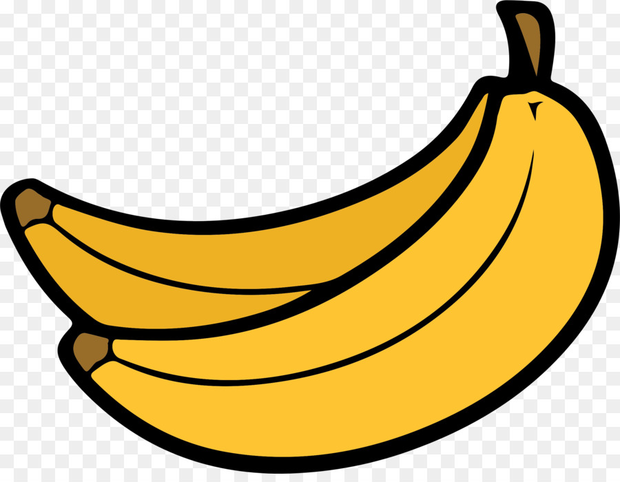 Banana food. Split clipart transparent clip