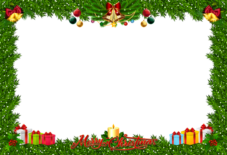 Download fchristmas frame art png clipart Santa Claus Borders and ...