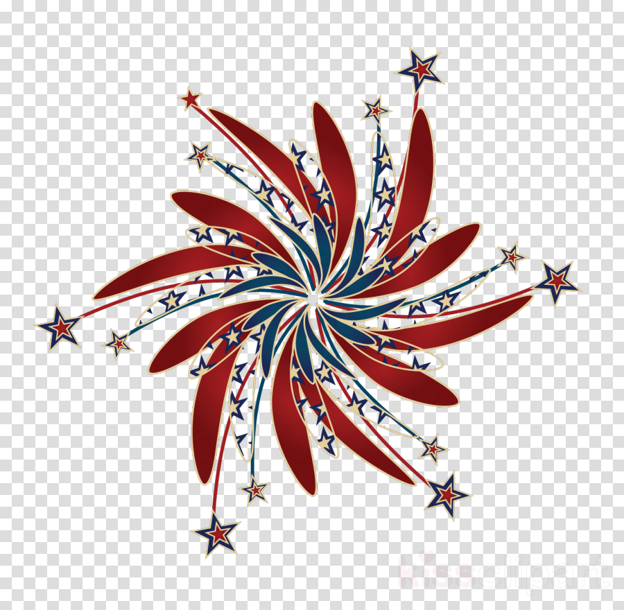 red white and blue fireworks png clipart Fireworks Clip art