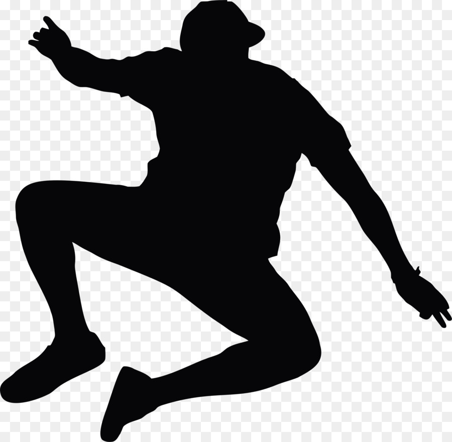Person jumping. Cartoon clipart man hand