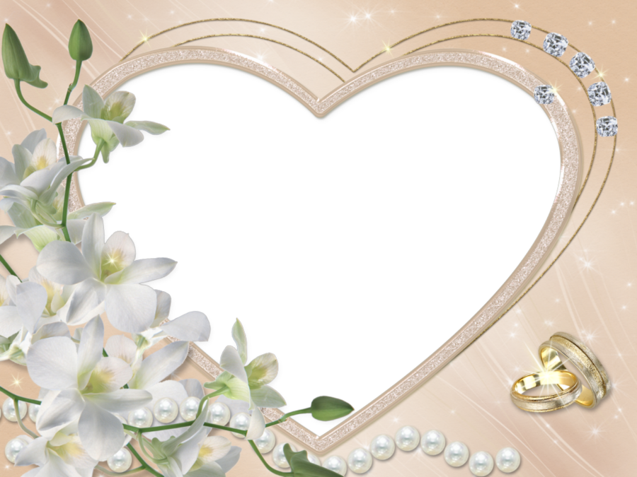 Wedding Photo Frames.Wedding Heart Frame Clipart Wedding Marriage Heart Transparent