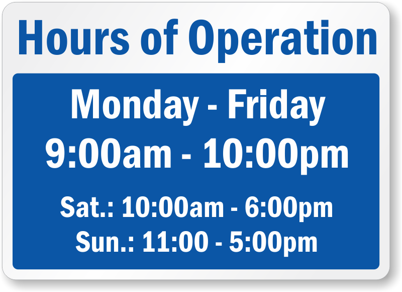 Opening Hours Template Microsoft Word from library.kissclipart.com