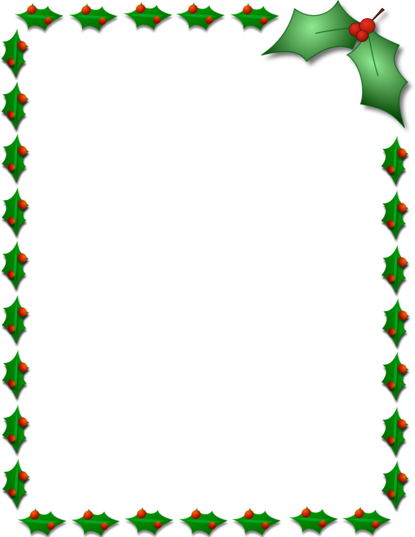 Christmas Borders Clipart.Christmas Border Design Clipart Leaf Tree Border