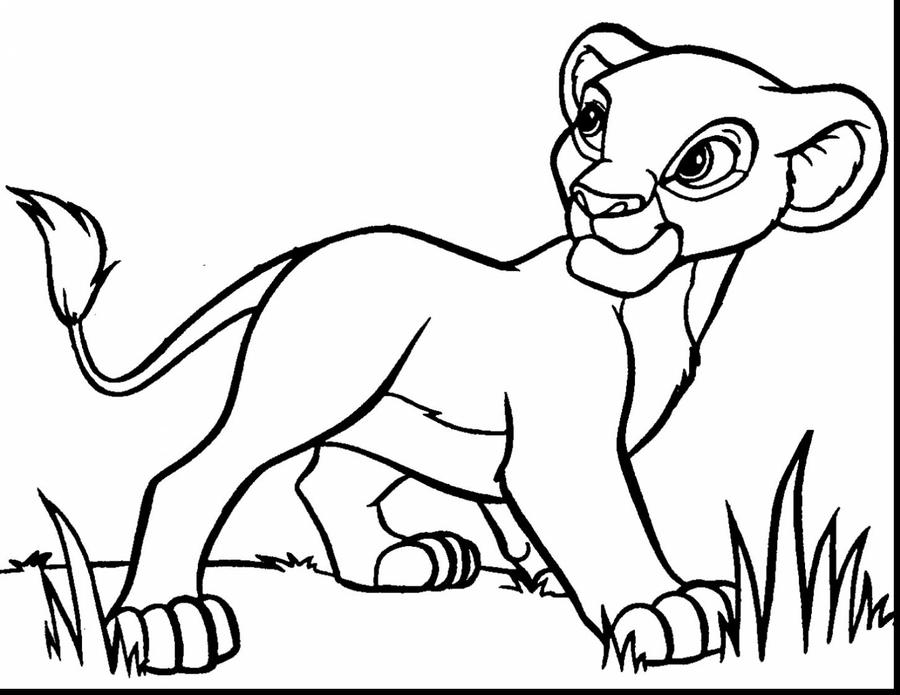 Download lion king coloring pages clipart Lion Nala Simba