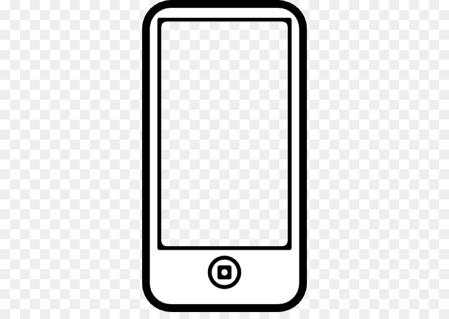 Phone outline. Iphone background clipart telephone