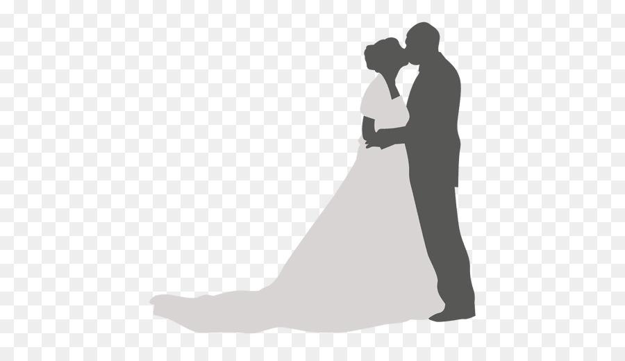 Kiss wedding. Love black and whitetransparent