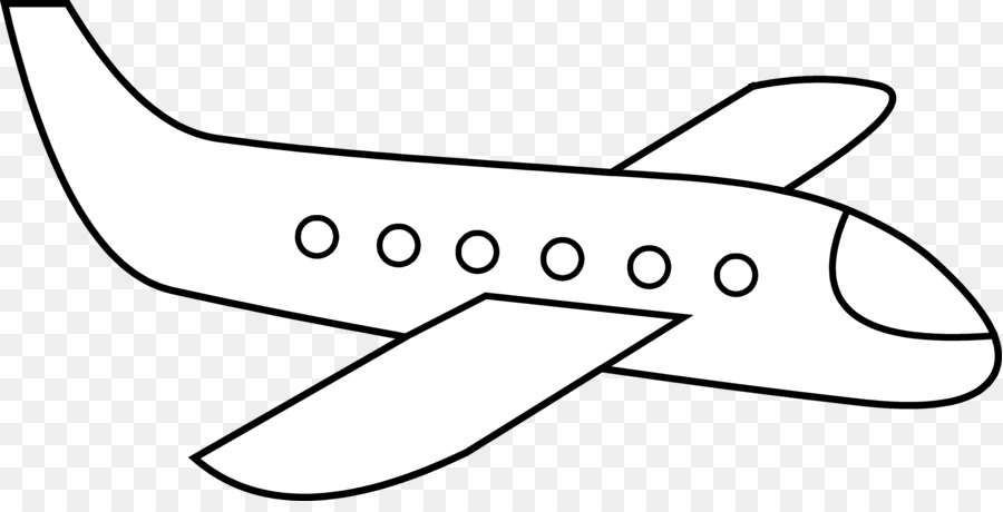 Black And White Book Clipart Airplane Hand Transparent Clip Art