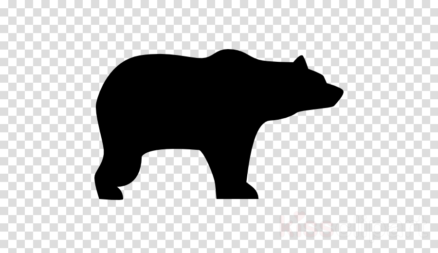 silhouette of bear clipart American black bear Clip art