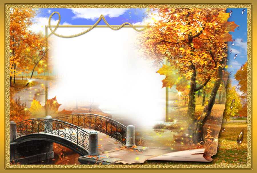 Watercolor Background Autumn Frame