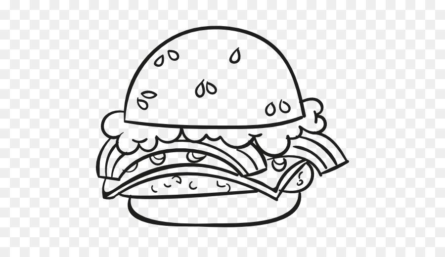 Black And White Source Download Food Clipart Hamburger Junk Cheeseburger