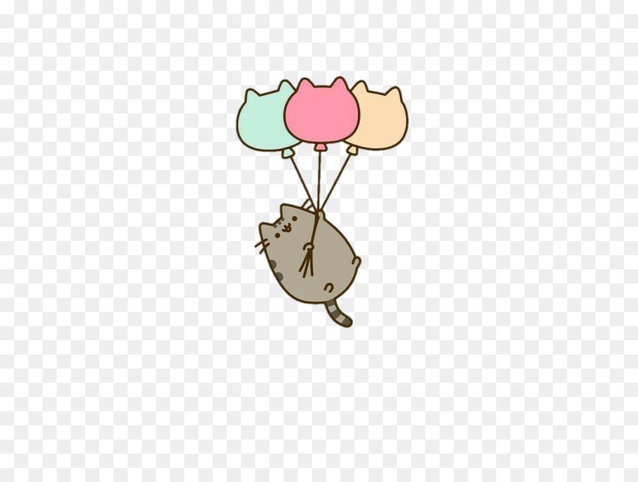 Download Pusheen Balloons Happy Birthday Card Clipart Cat Pusheen