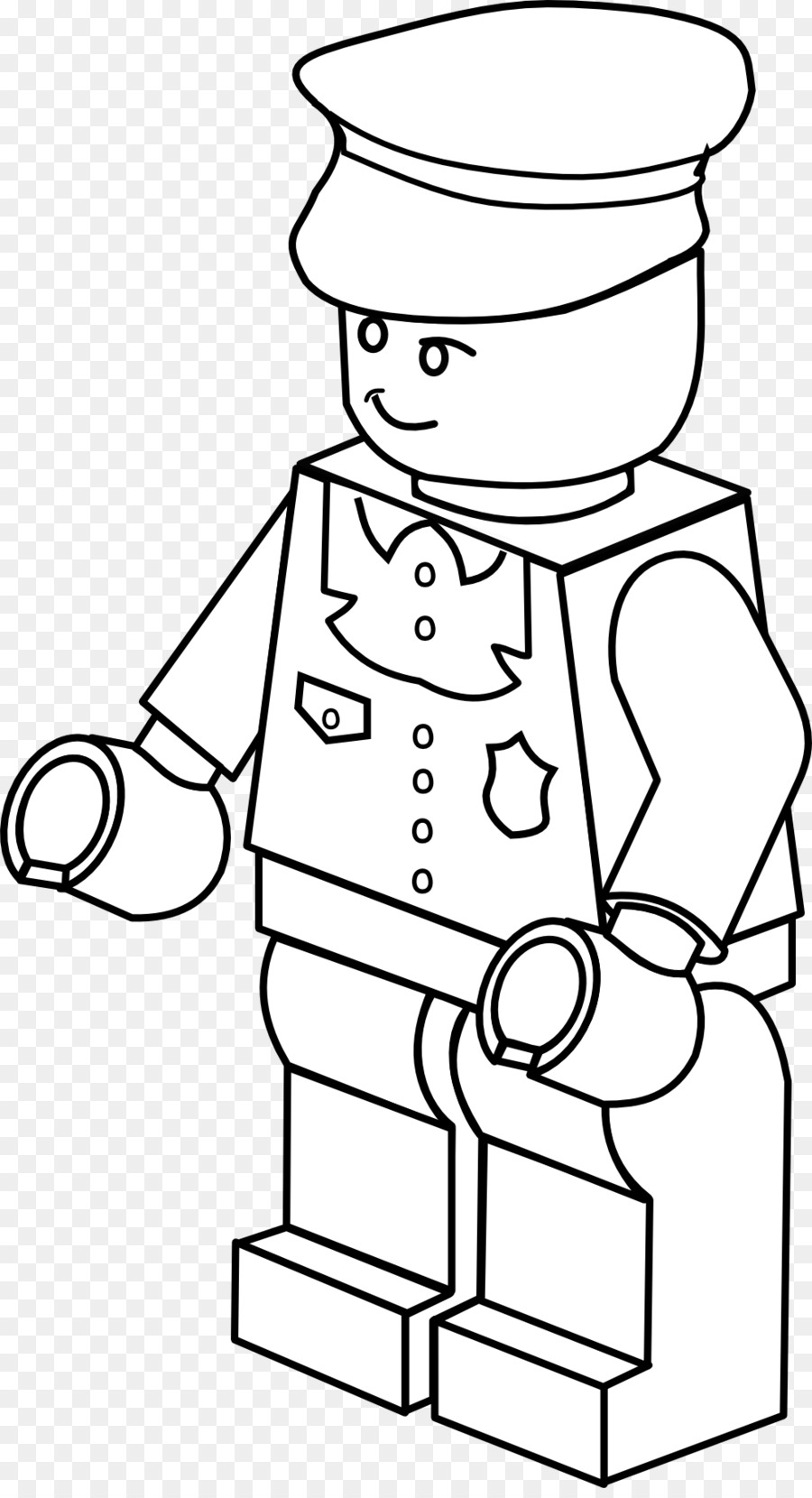 Download lego policeman coloring page clipart Police officer ...