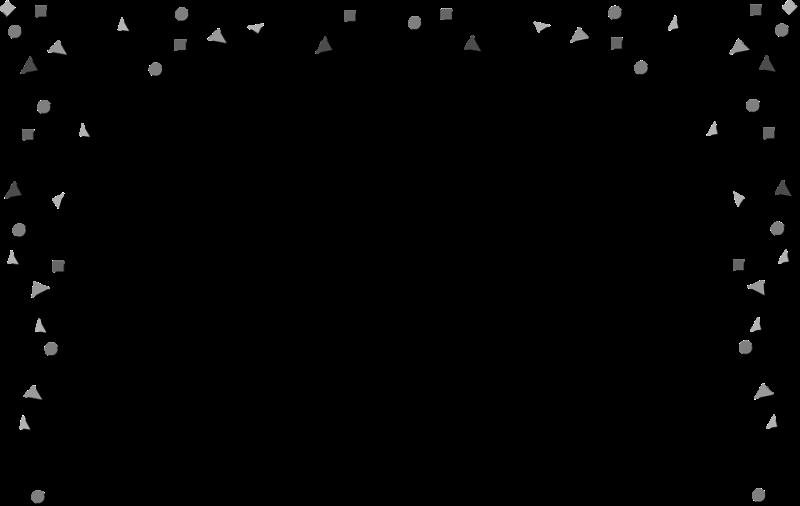 Confetti black. Balloon and white clipart
