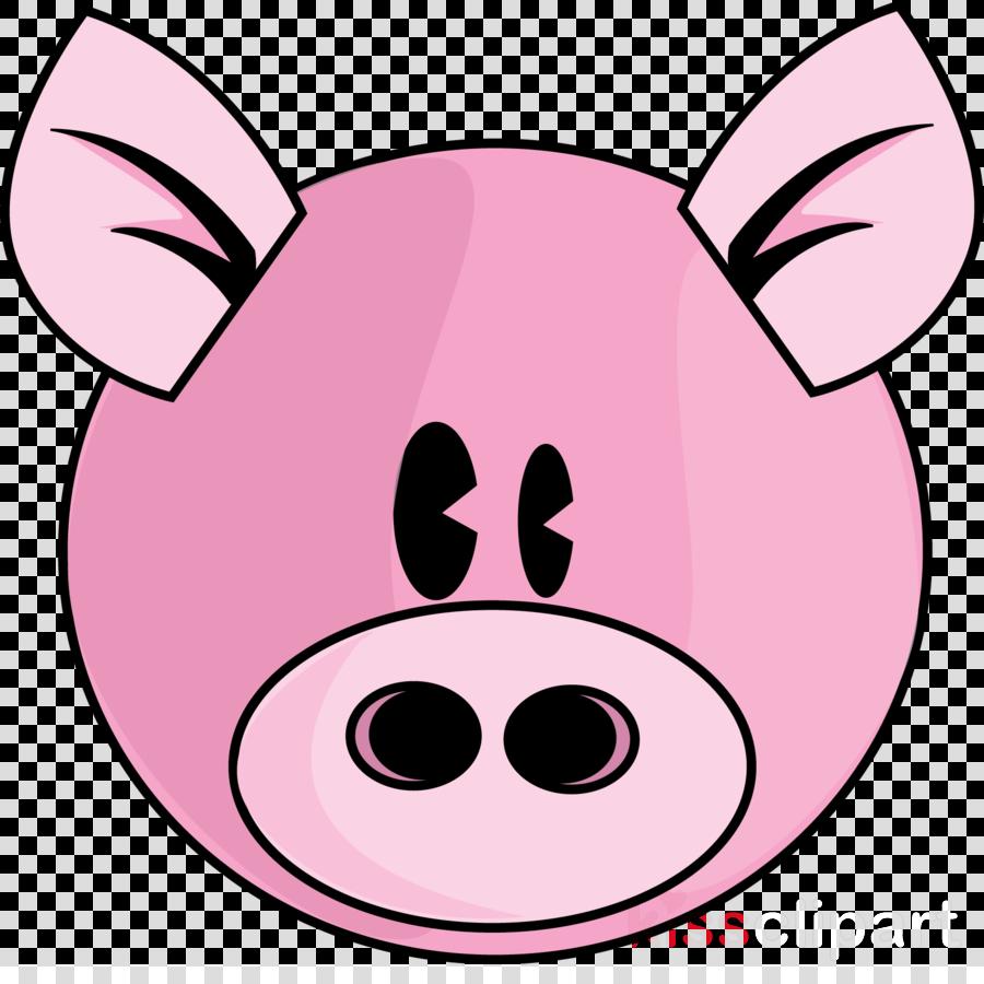 pink pig clipart Domestic pig Clip art